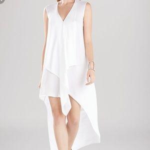 Buy BCBGMAXAZRIA Women's White Tara Cascade Ruffle